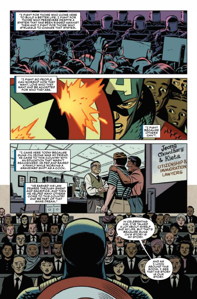 Steve Rogers' Eulogy for Sung Jin Jeong from Captain America #25