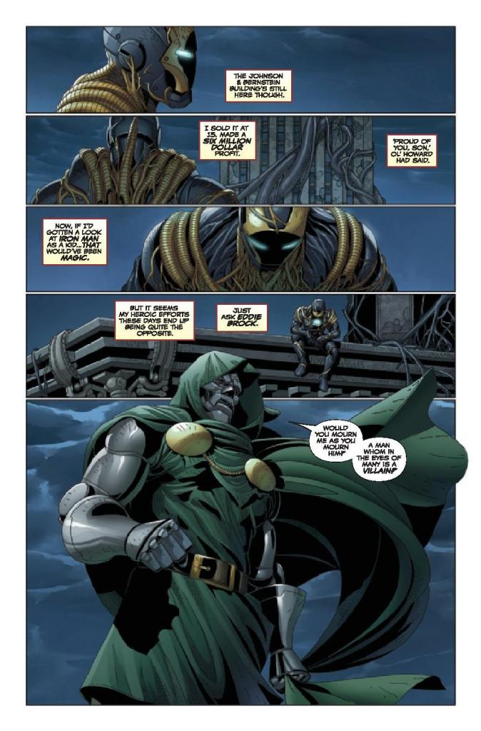 King in Black: Iron Man/Doctor Doom Preview Page
