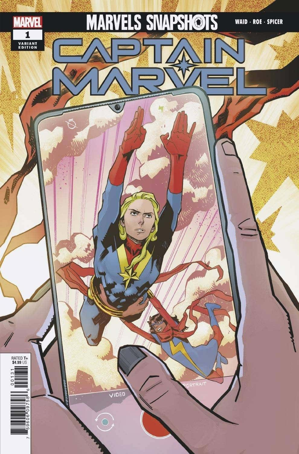 Captain Marvel: Marvels Snapshots #1 Cover by Claire Roe