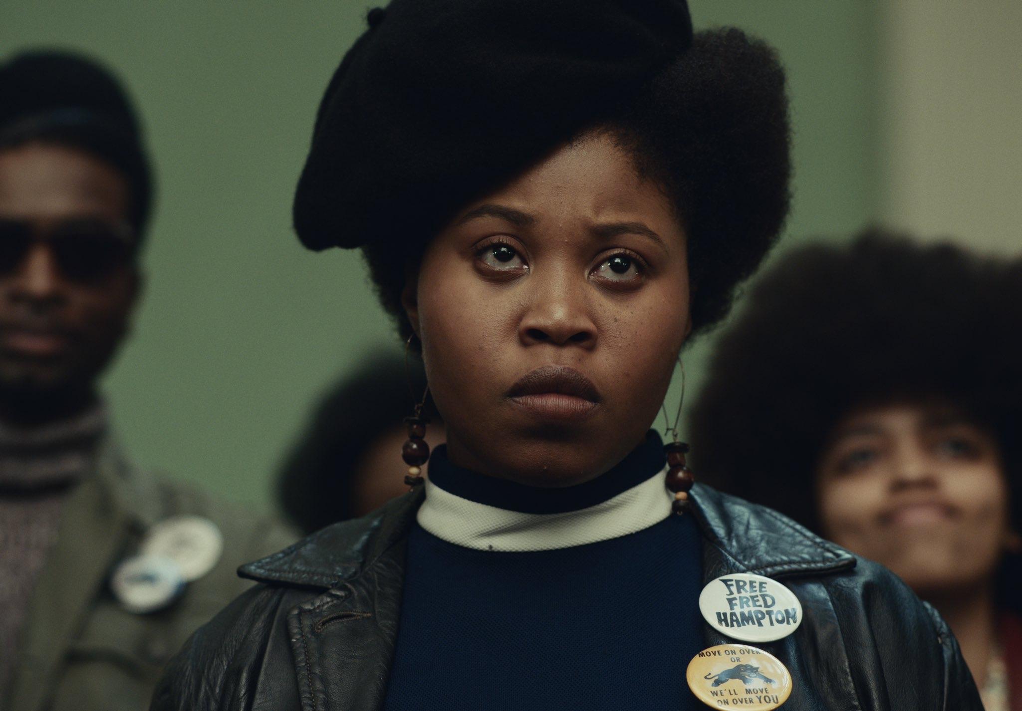 Dominique Fishback as Deborah Johnson in Judas and the Black Messiah