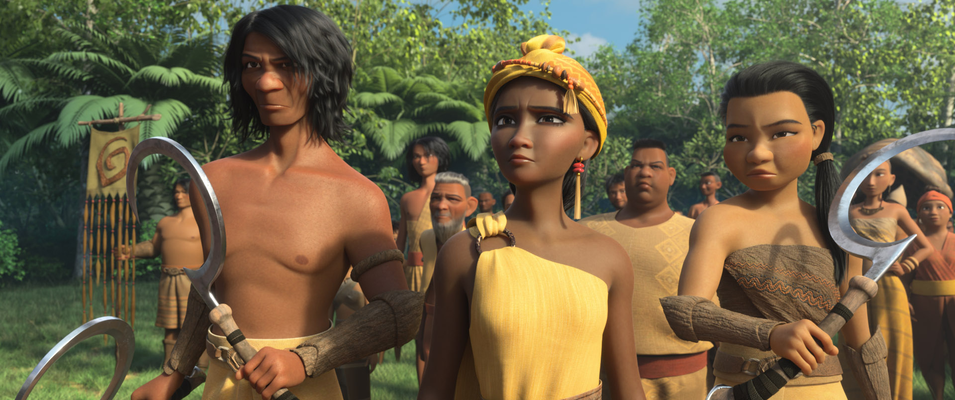 """Resourceful and independent, the people of Tail are accustomed to looking after themselves with little interference from the rest of the five lands of Kumandra. Featuring Patti Harrison as the Tail Chief, Walt Disney Animation Studios' """"Raya and the Last Dragon"""" will be in theaters and on Disney+ with Premier Access on March 5, 2021. © 2021 Disney. All Rights Reserved."""