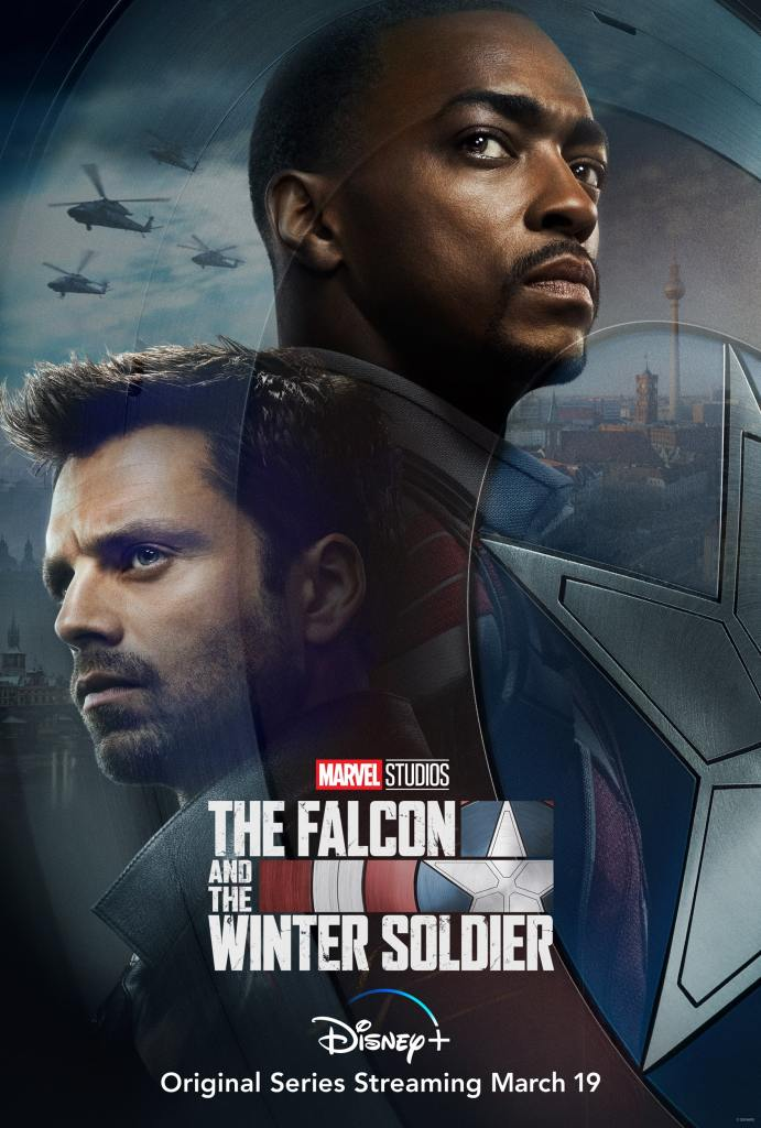 The Falcon and the Winter Soldier Poster with Bucky Barnes and Sam Wilson