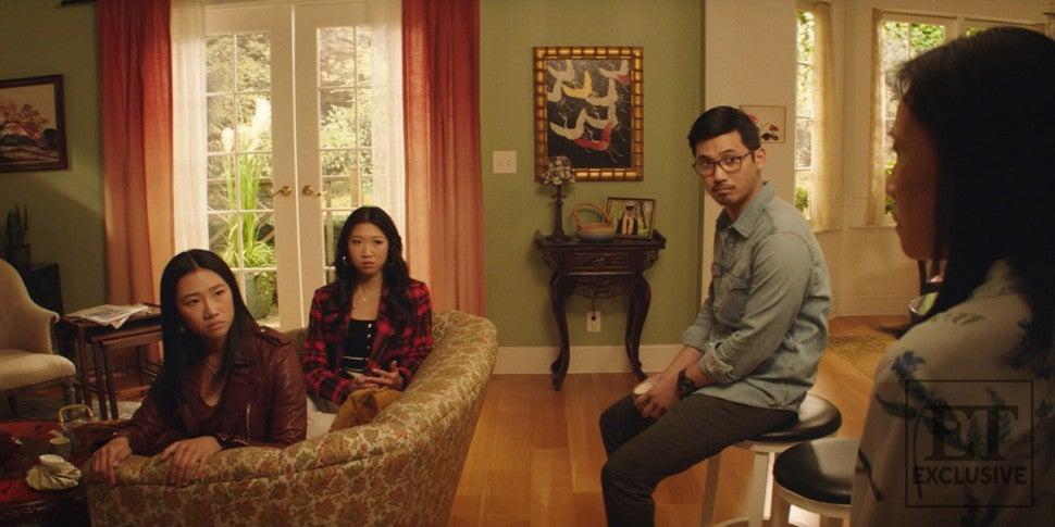 (L-R) Nicky Shen (Olivia Liang), Althea Shen (Shannon Dang), Ryan Shen (Jon Prasida) and Mei-Lin Shen (Kheng Hua Tan)