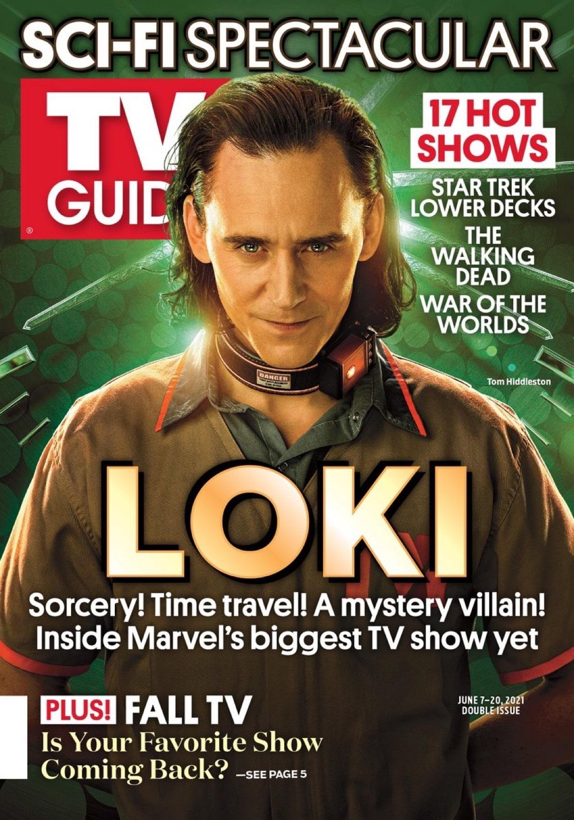 Tom Hiddleston on the Cover of TV Guide Magazine for Marvel Studios' Loki