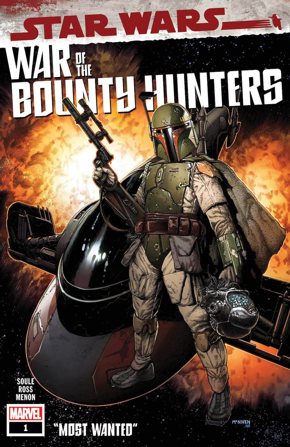 Marvel Comics Star Wars: War of the Bounty Hunters #1 Cover by Steve McNiven