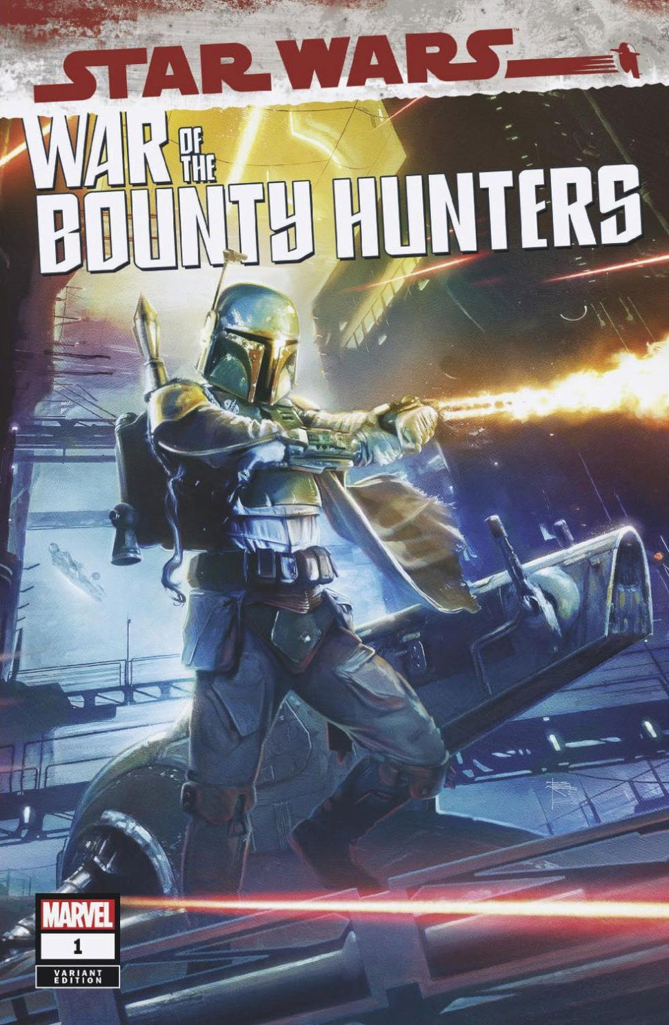 Marvel Comics Star Wars: War of the Bounty Hunters #1 Variant Cover by Brian Rood
