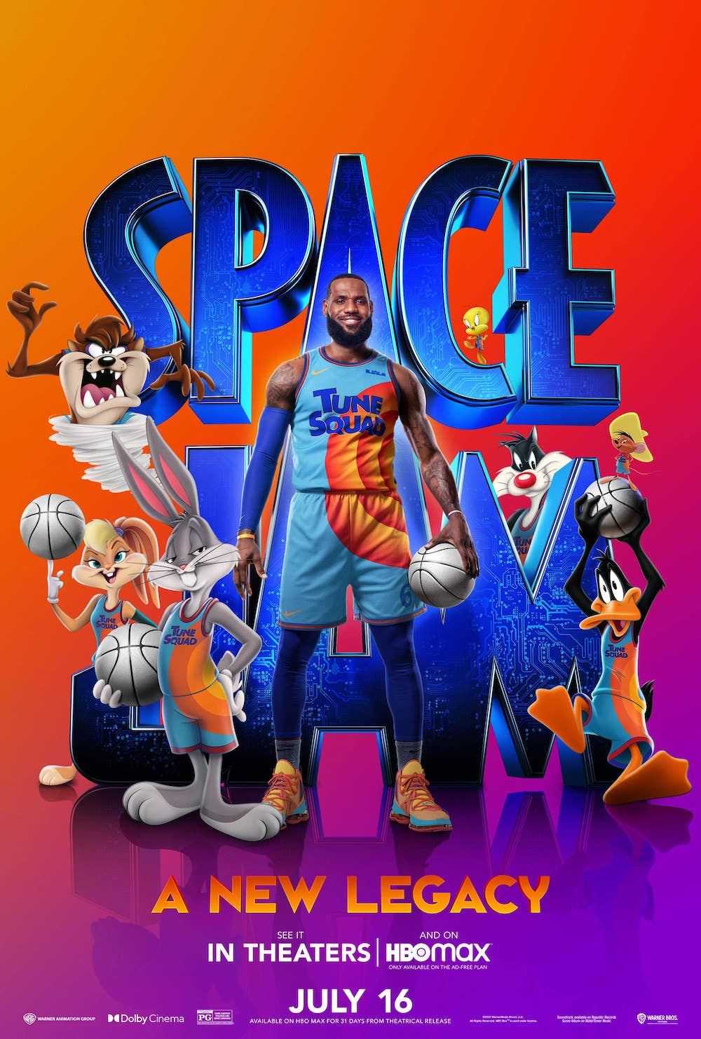 Space Jam: A New Legacy Full Cast Poster