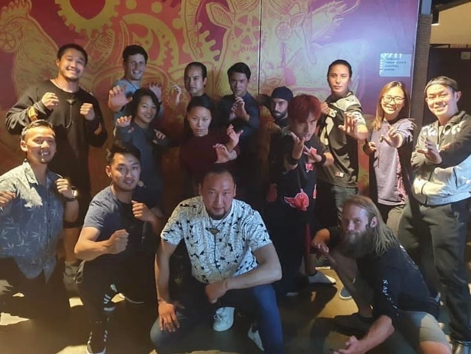 Andy Le and the Stunt Team Members from Marvel Studios' Shang-Chi and the Legend of the Ten Rings