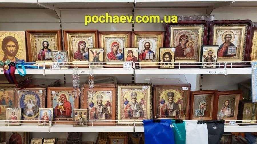 Иконы в иконной лавке цены