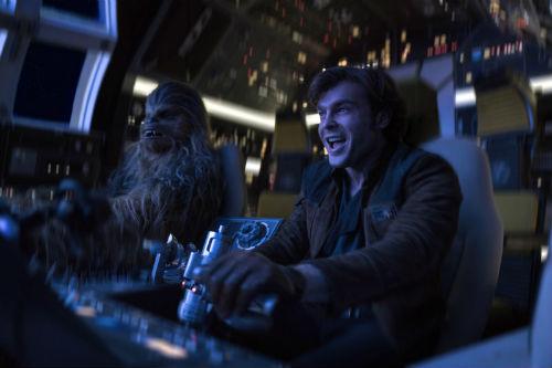 Han Solo: Uma História Star Wars, Han Solo e Chewbacca na Millennium Falcon