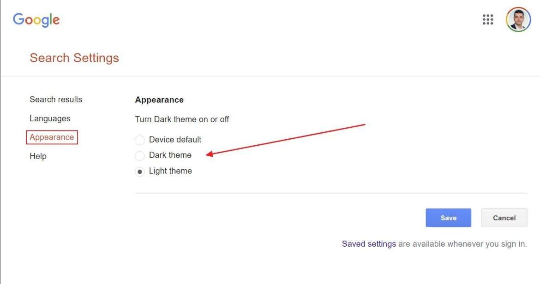 google dark technology