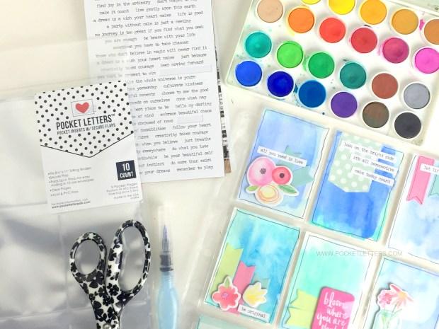 watercolor pocket letter