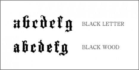 ブラックレターフォント
