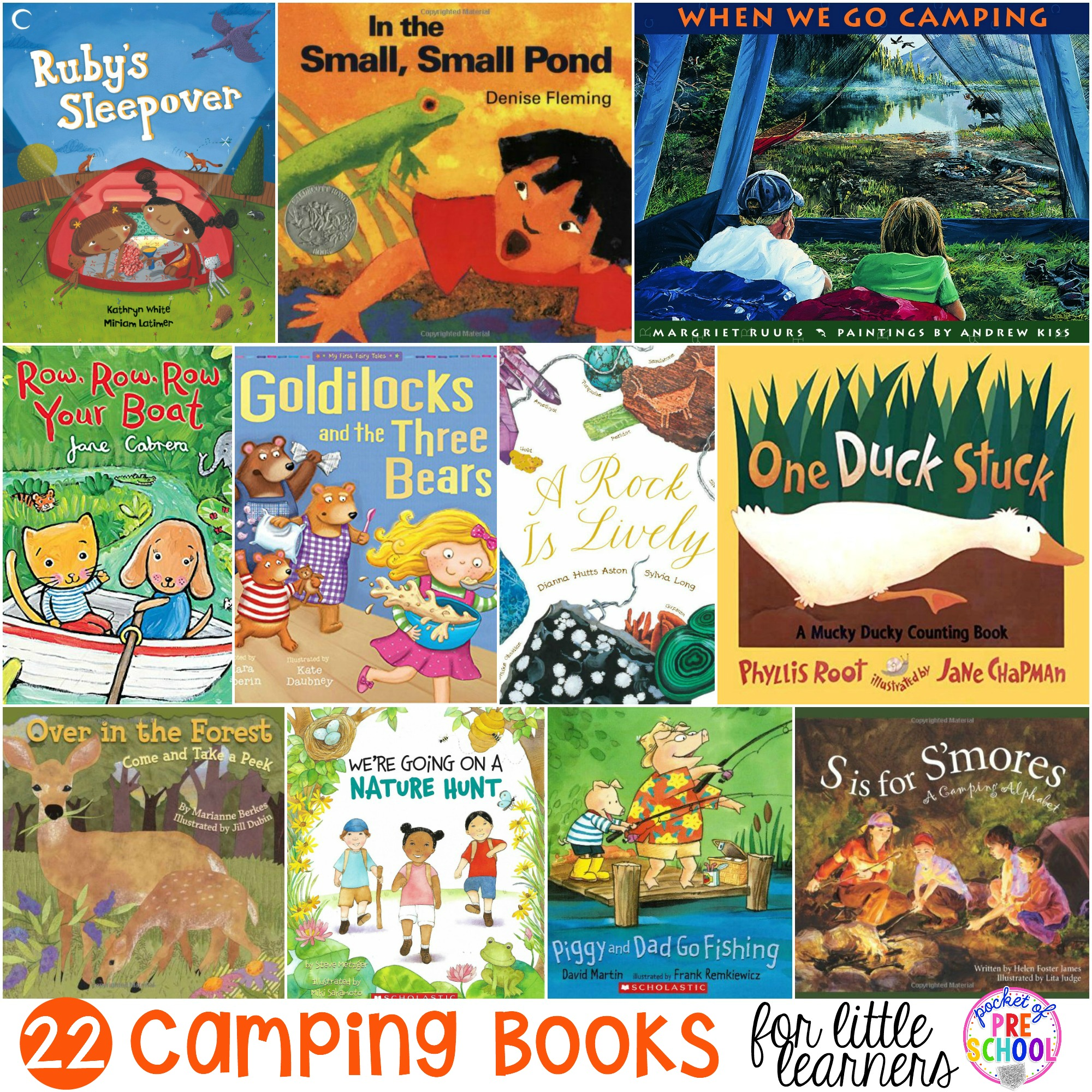 Camping Books For Little Learners