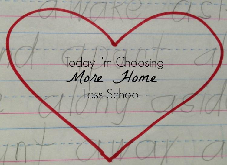 MoreHomeLessSchool