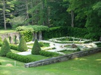 View of the Italian garden from the house.