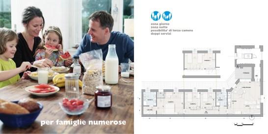 soluzione B5 per famiglie numerose (doppia pagina)