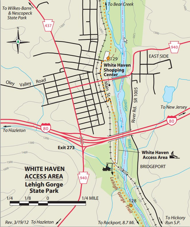 White Haven Lehigh Gorge Access Points