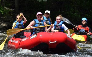 whitewater rafting, biking, hiking, disc golf