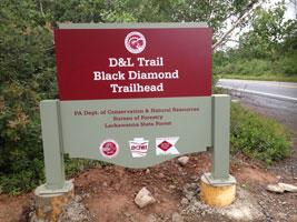 D and L Black Diamond Trail Trailhead Glen Summit Access Point White Haven PA
