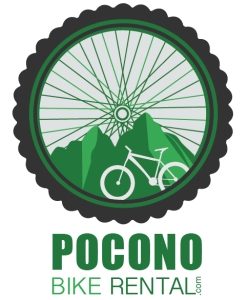 Pocono Bike Rental Vertical Logo - White Haven, Poconos, PA