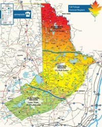Poconos Fall Foliage Map