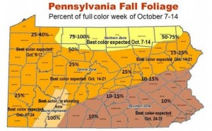 PA Fall Foliage Map