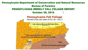 PA Fall Foliage Map October 28 2015