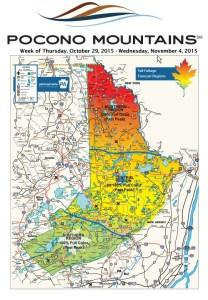 Pocono Mountains Visitors Bureau Fall Foliage Map