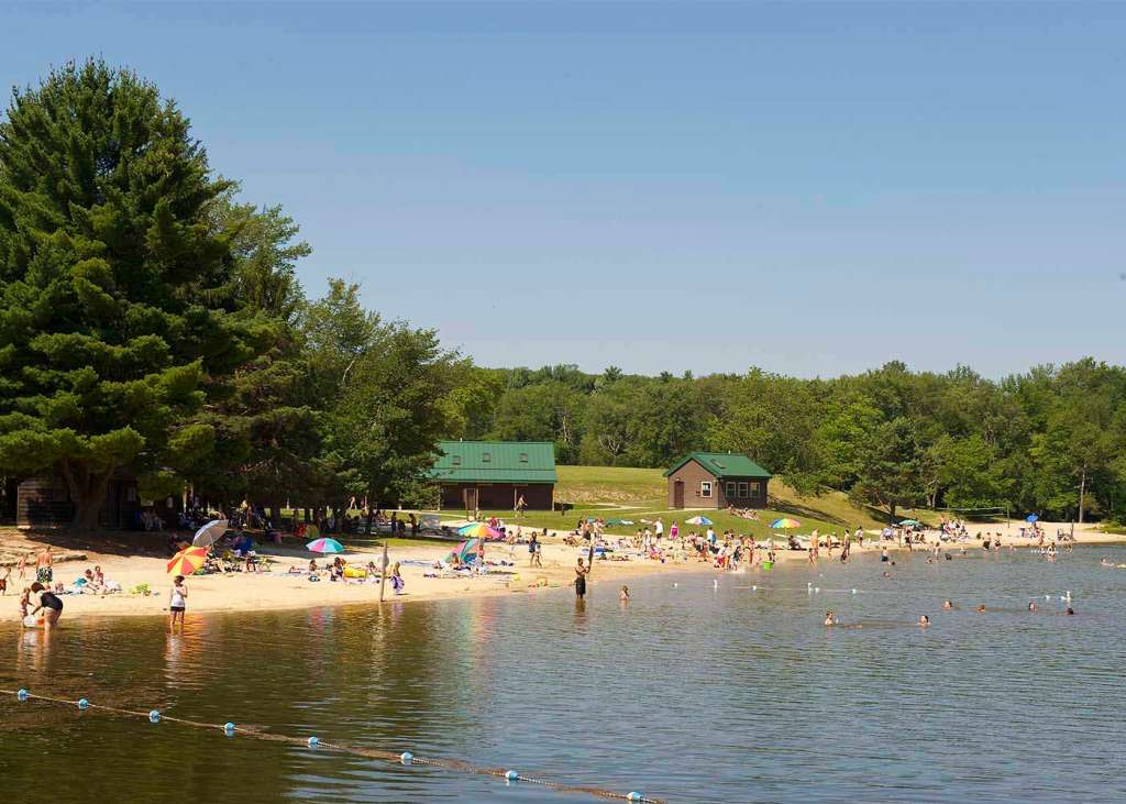 Sand Spring Lake - Hungry Bear Snack Bar - Hickory Run State Park White Haven PA