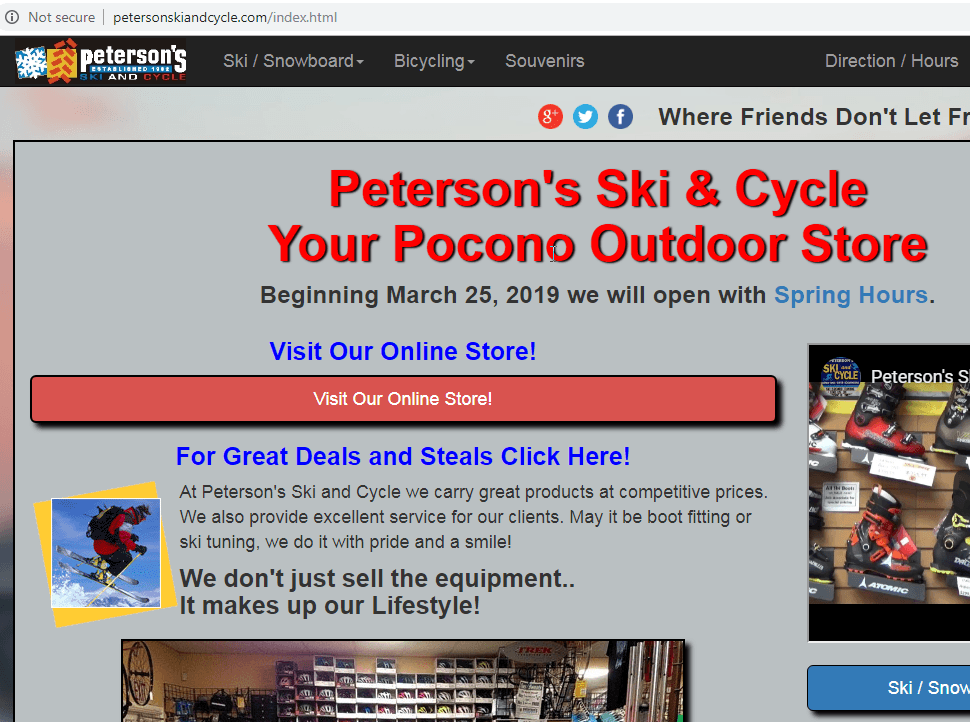 Peterson Ski and Cycle Poconos PA
