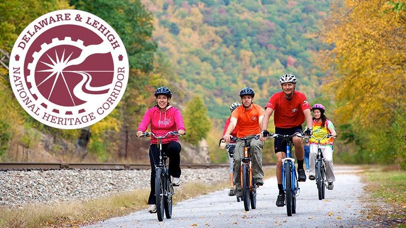 Poconos Fall Foliage D and L Bike Trail