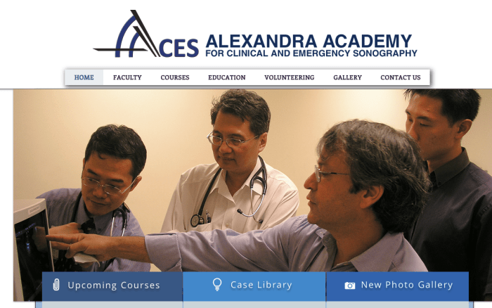 AACES: Alexandra academy for clinical and emergency sonography ALEXANDRA ACADEMY FOR CLINICAL AND EMERGENCY SONOGRAPHY
