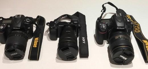 Nikon D90 Sony A600 Nikon D750