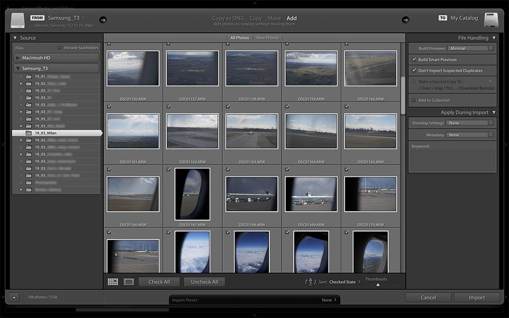 import zdjęć do lightrooma