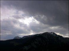 Widok z Polany na Stołach, tuż przed burzą - maj 2012