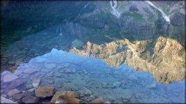 Piękny początek sierpnia 2012 - odbicie lustrzane na Morskim Oku