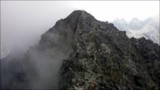 Pośredni Granat (2234 m n.p.m.) widziany ze Skrajnego Granatu (2225 m n.p.m.) - 23 lipca 2013