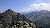 Widok z Małego Koziego Wierchu (2228 m n.p.m.) - 29 lipca 2013