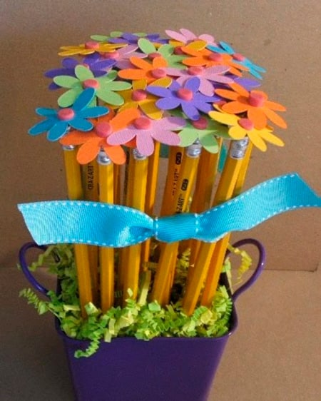 Beautiful bouquet of pencils