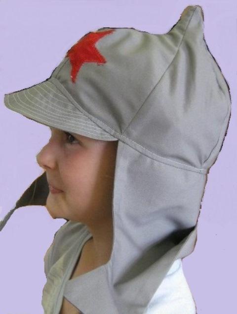 Шапочка - буденовка для ребенка.