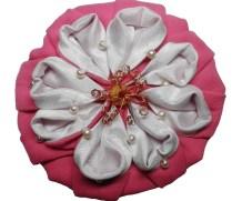 Мастер-класс.  «Брошка цветок-оригами из ткани»