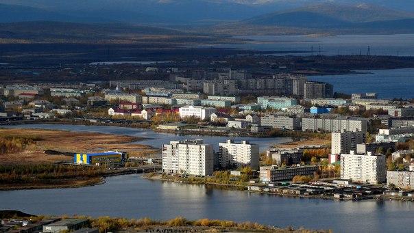 Вид города Мончегорска.