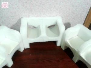 Формы для мебели из бросового материала.