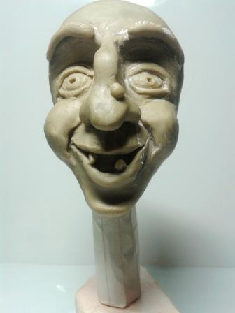 Лепка из пластилина лицо бабы Яги.