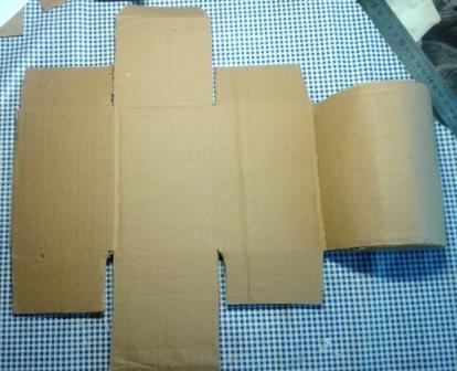 Основа шкатулки из картона