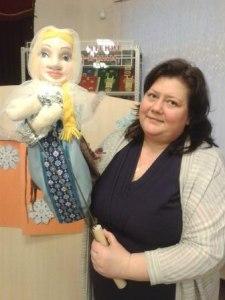 Принцесса. Двуликая кукла для театра.