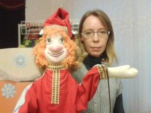 Кукловод с Петрушкой.