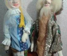 Двуликие куклы  из папье-маше для театра.