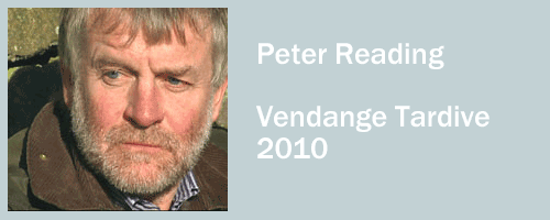 graphic for Peter Reading, Vendange Tardive